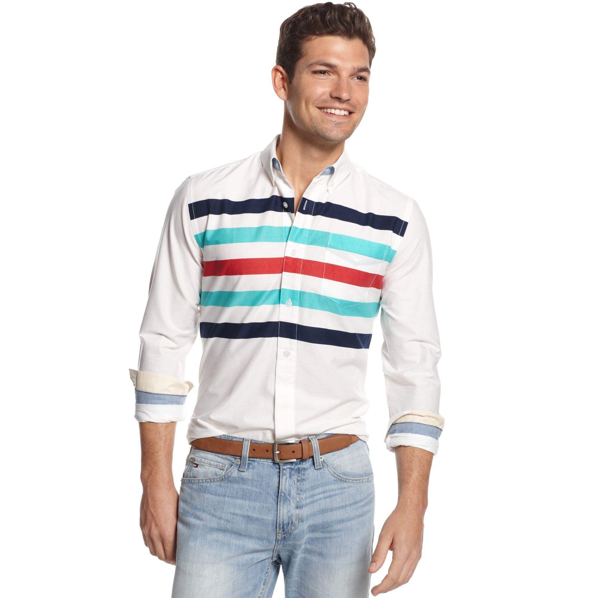 Tommy Hilfiger Laguna Horizon Customfit Shirt In