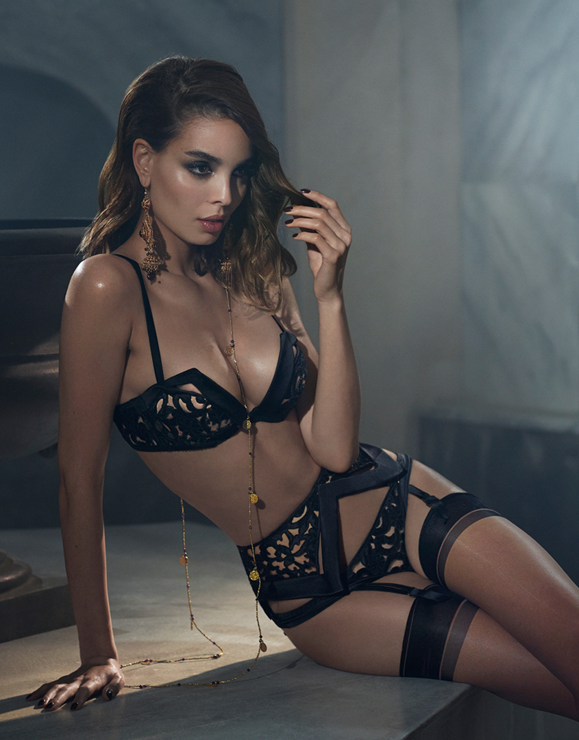 a1daeffa30 Lyst - Agent Provocateur Ordella Thong in Black