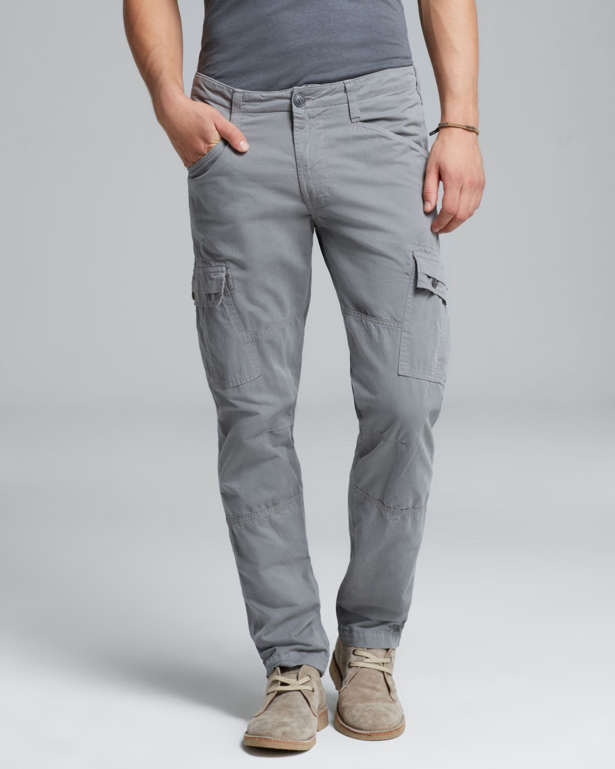 J brand Trooper Slim Cargo Pants in Gray for Men | Lyst