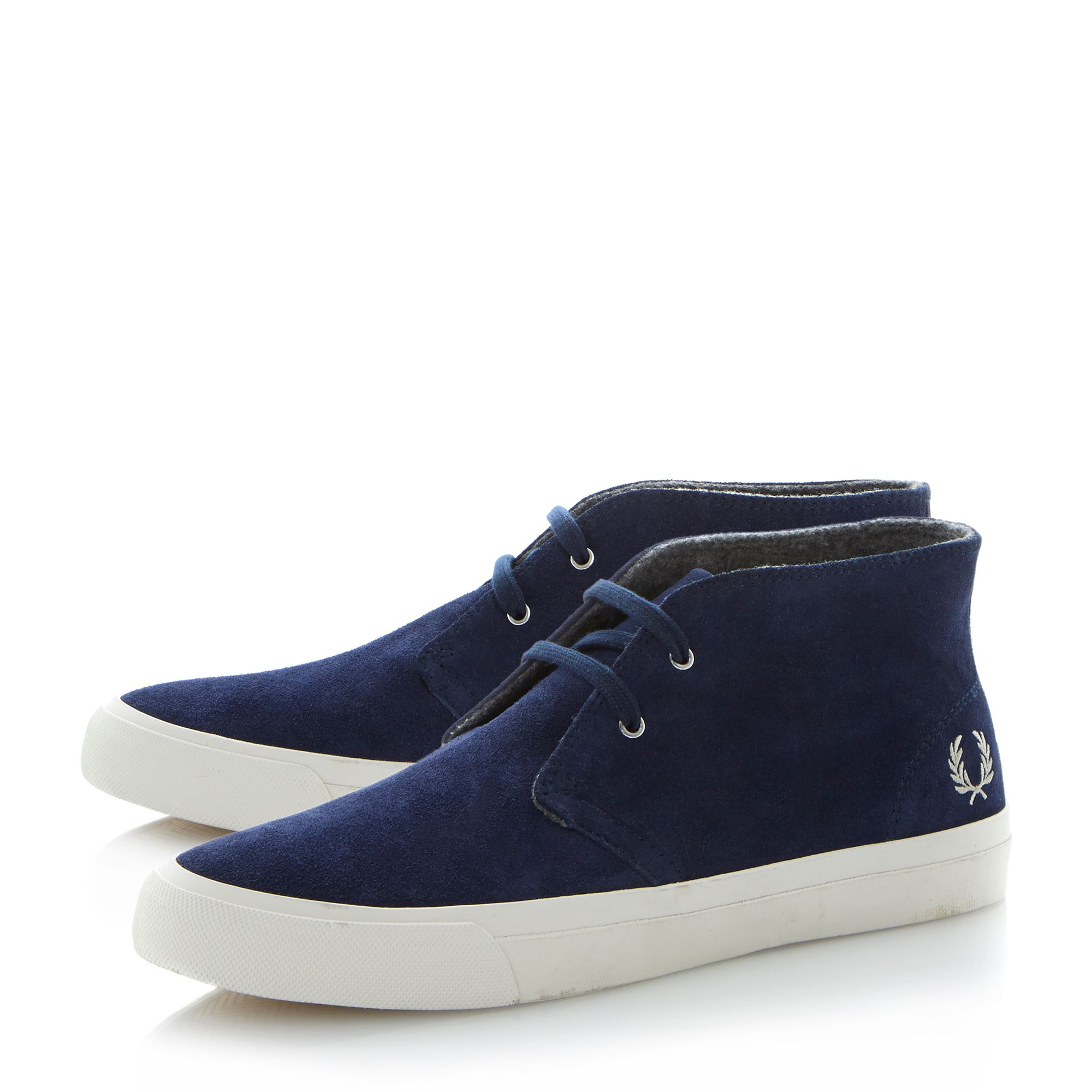 Lyst - Fred Perry Vernon Mid Lace Up Chukka Boots in Blue ...