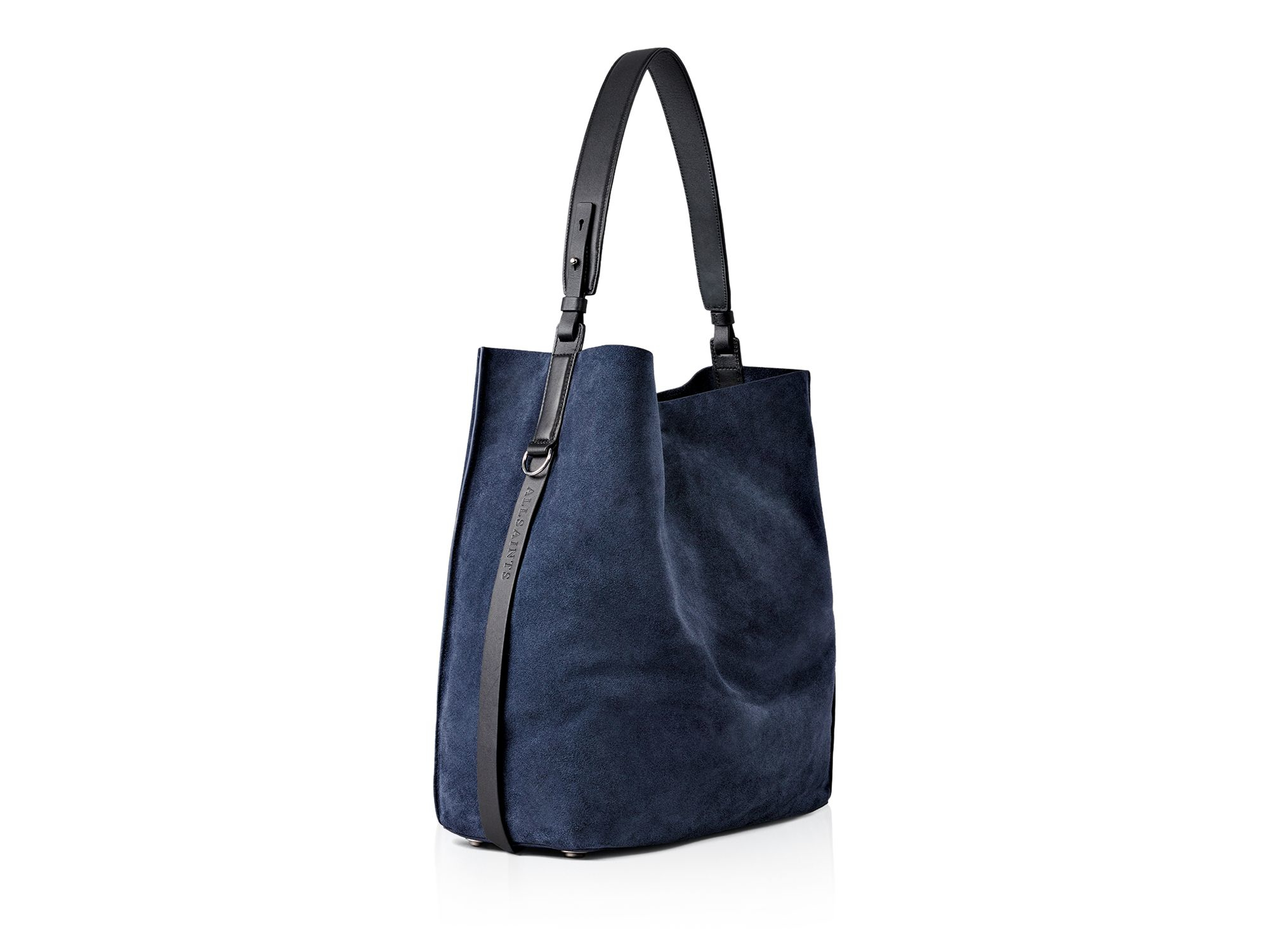 b7fe5eccb7e7 AllSaints Paradise Suede North south Tote in Blue - Lyst
