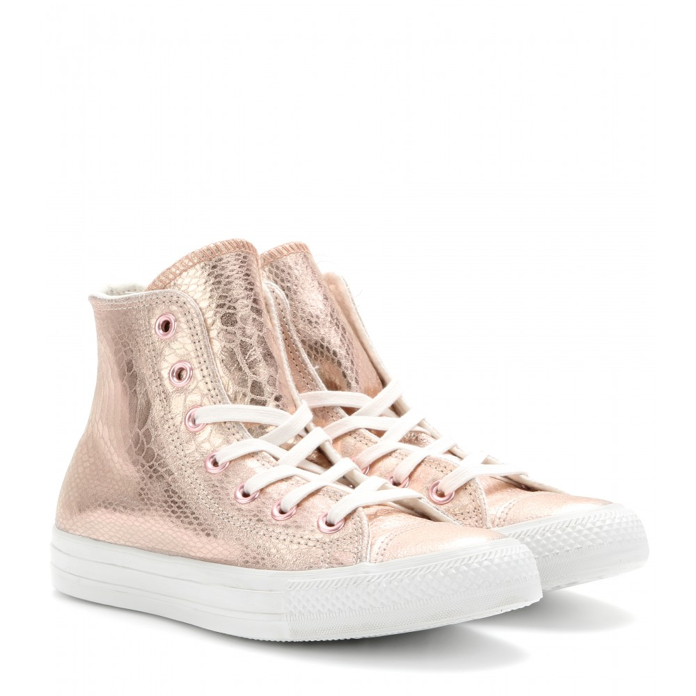 1291f93bae4 Lyst - Converse Chuck Taylor All Star Hi Glam Leather Hightops in ...