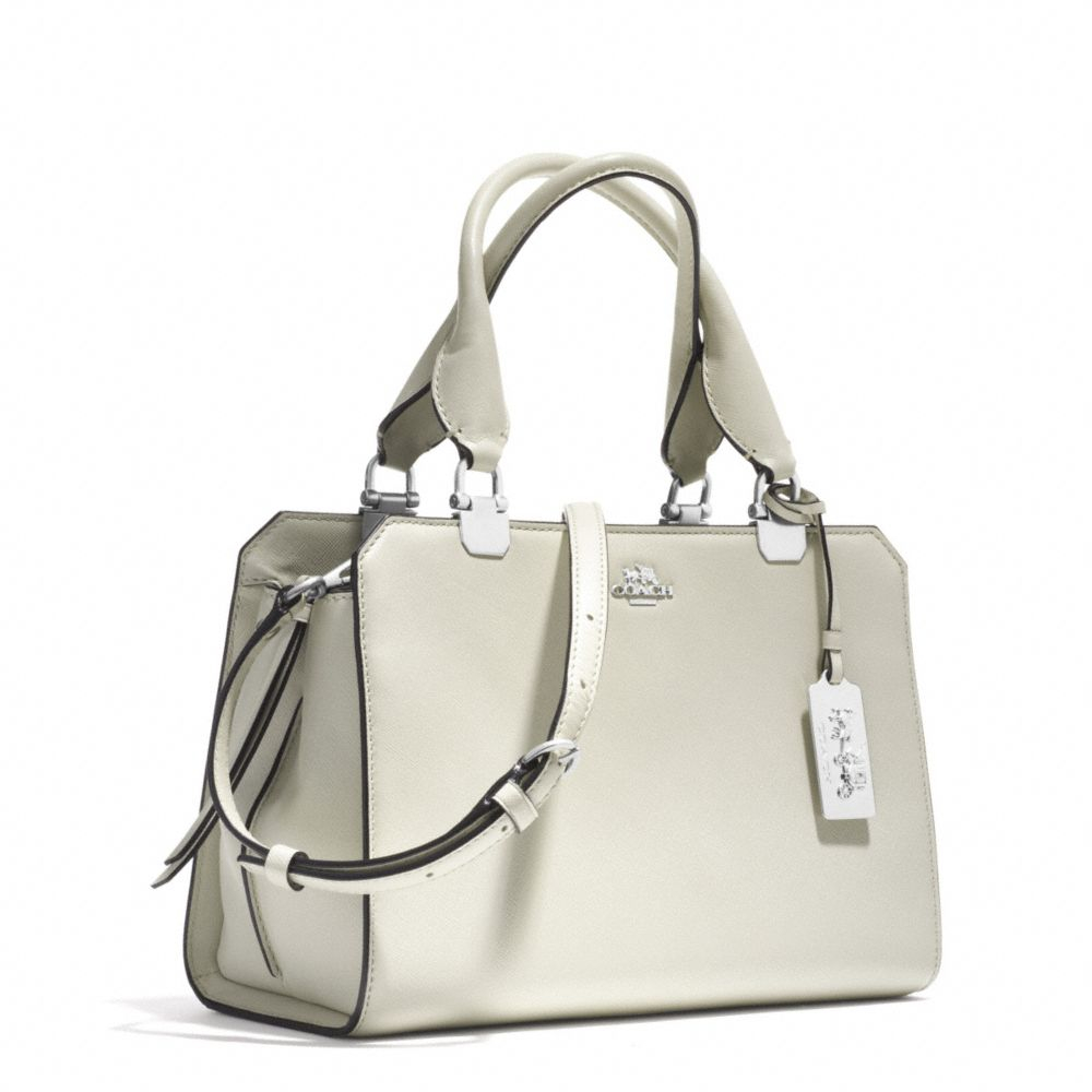 0a51dbe7e7000 ... official lyst coach madison mini lexington carryall in saffiano leather  in white 7cc5e 2a74d