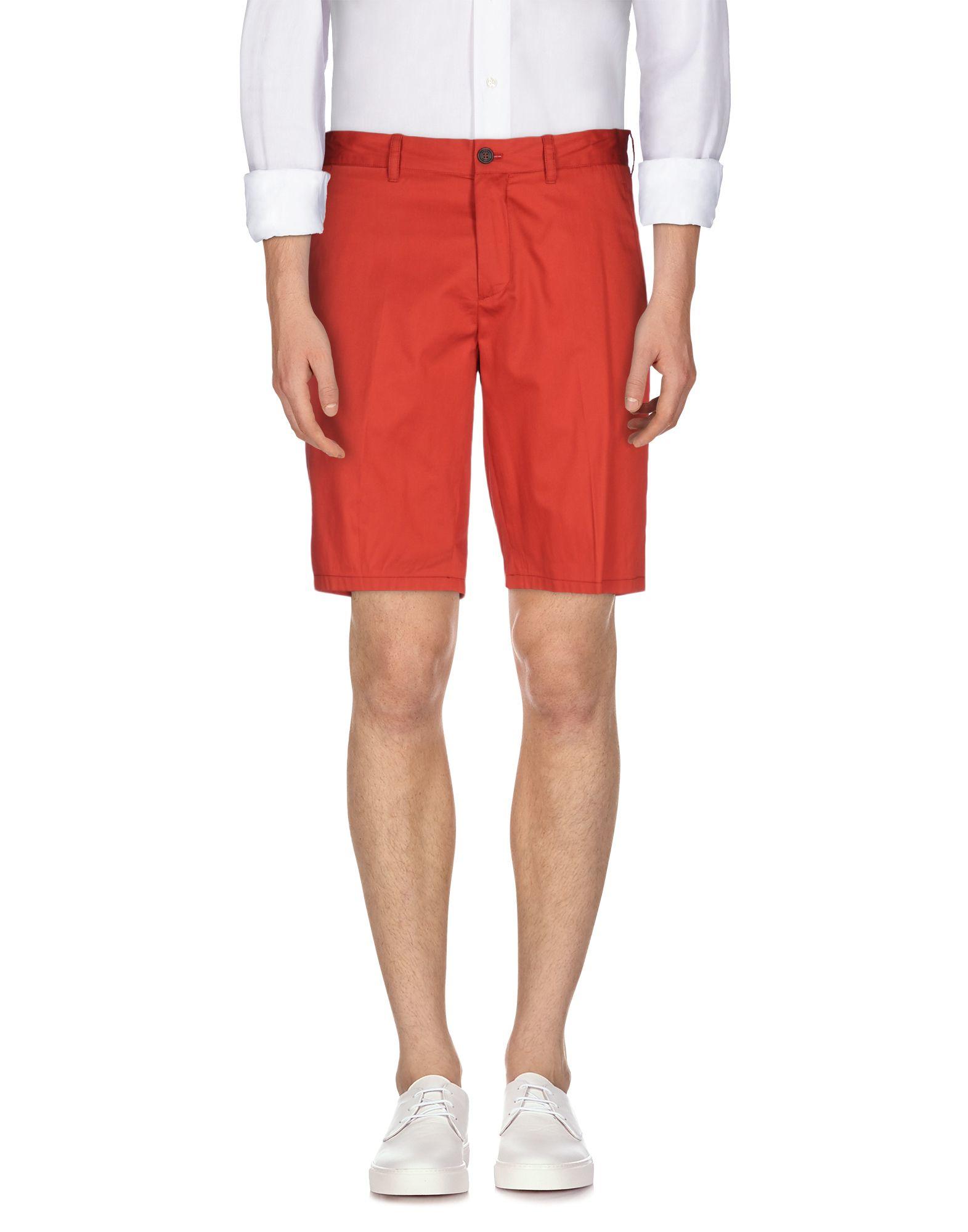 Prada Bermuda Shorts in Red for Men | Lyst