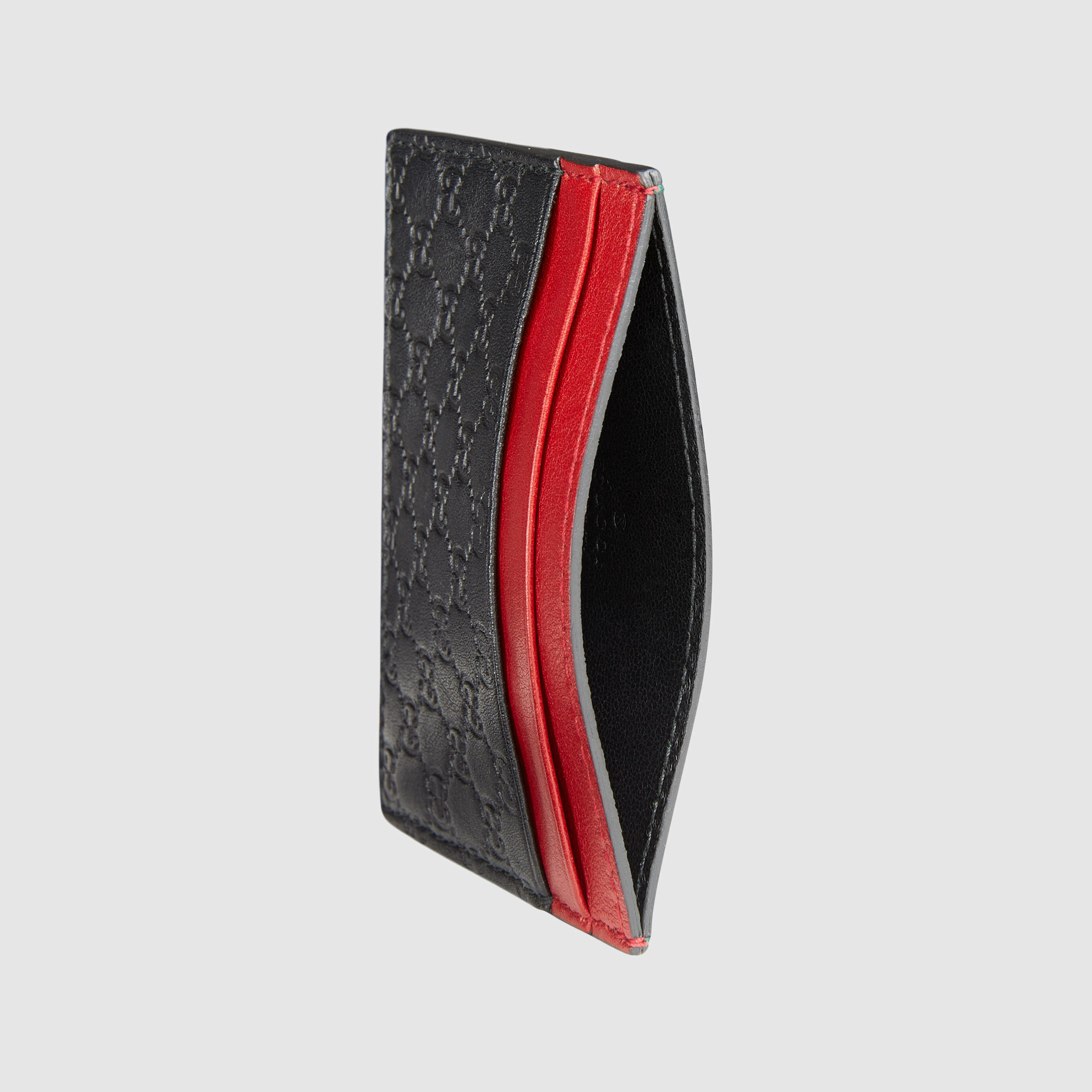 4c00b143a2b Lyst - Gucci Microguccissima Card Case in Red for Men
