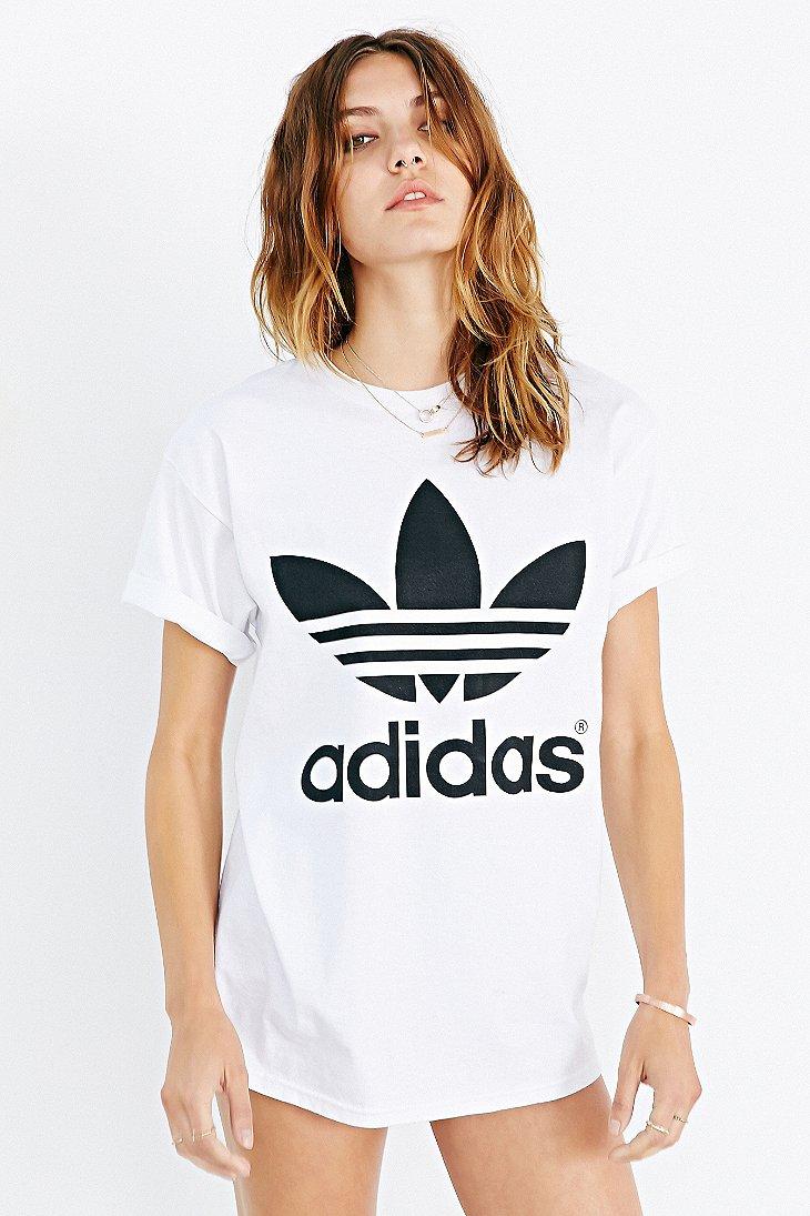0ba549c934eb Lyst - adidas Originals Originals Double Logo Tee in White