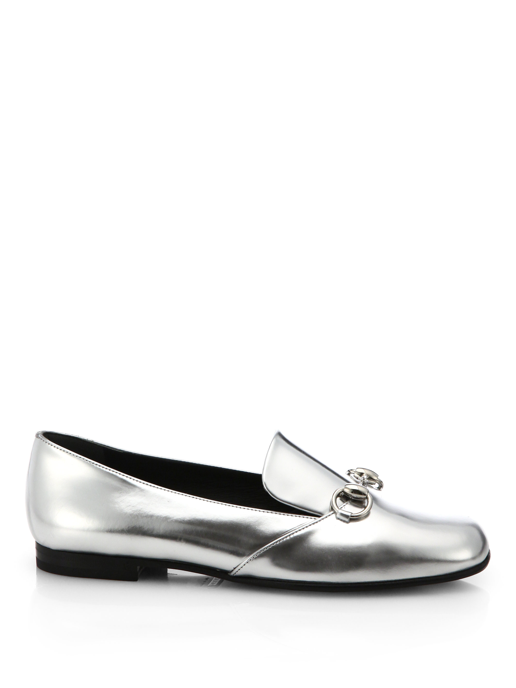 446ec4b77 Gucci Kira Metallic Leather Loafers in Metallic for Men - Lyst