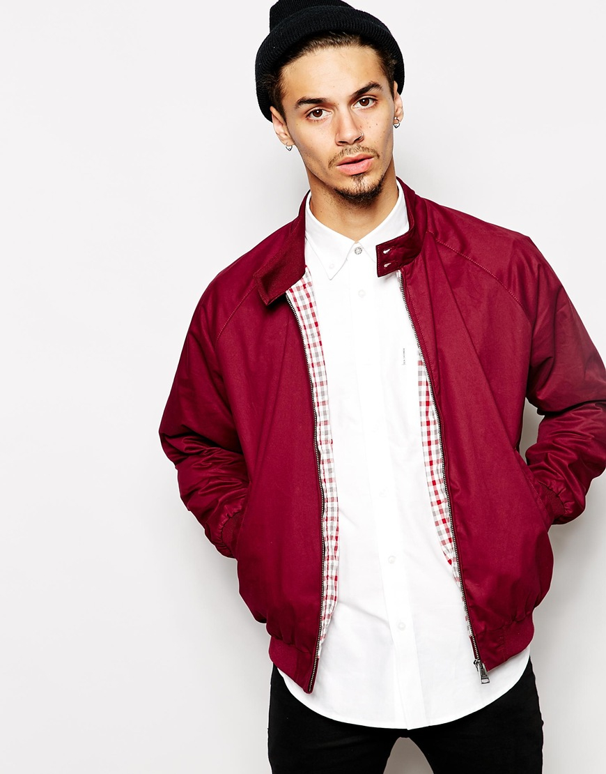 lyst ben sherman harrington jacket in red for men. Black Bedroom Furniture Sets. Home Design Ideas