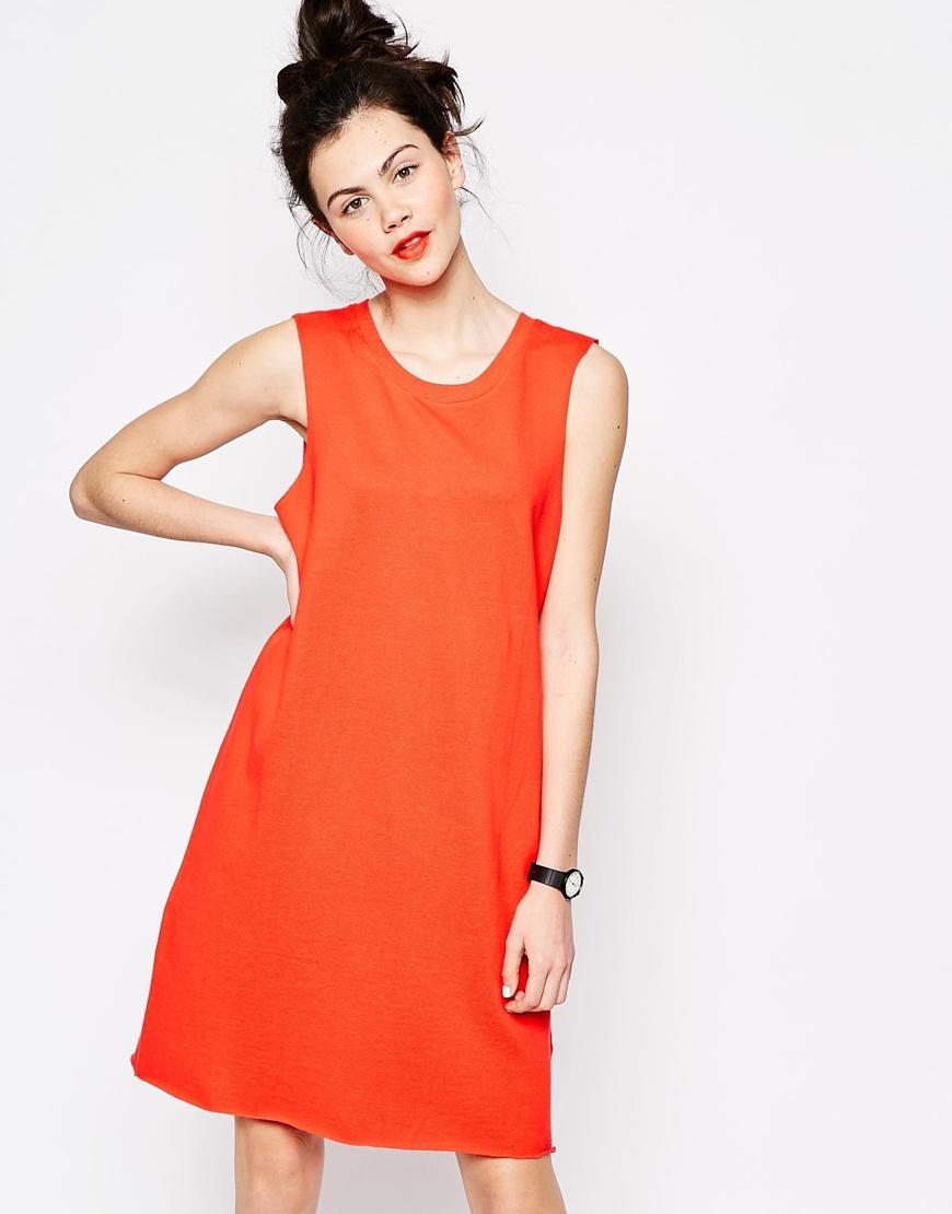 0dc3f5b099c9 Monki Sleeveless T-shirt Dress in Red - Lyst