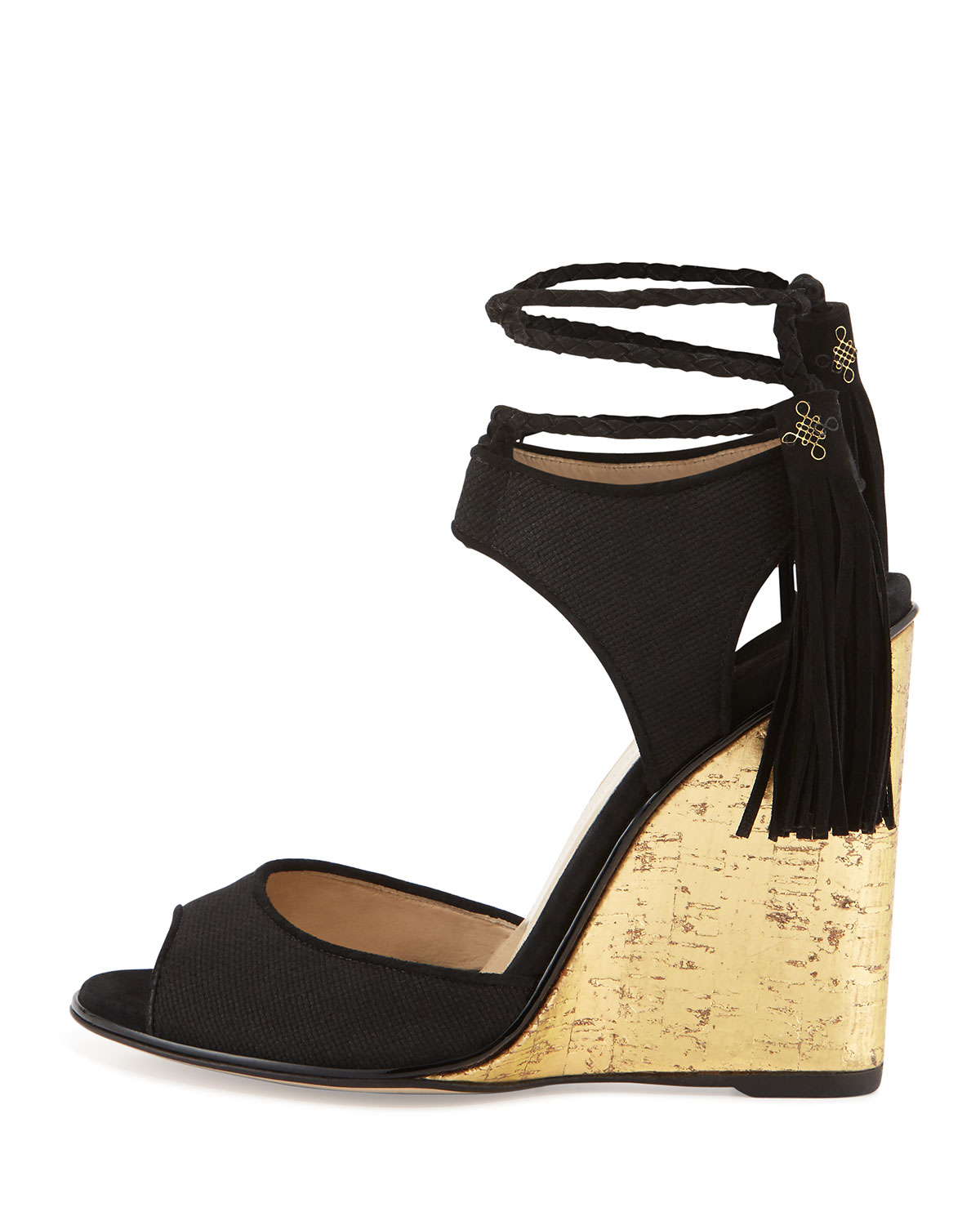 602eb328b33 Lyst - Paul Andrew Tianjin Wedge Sandals in Black