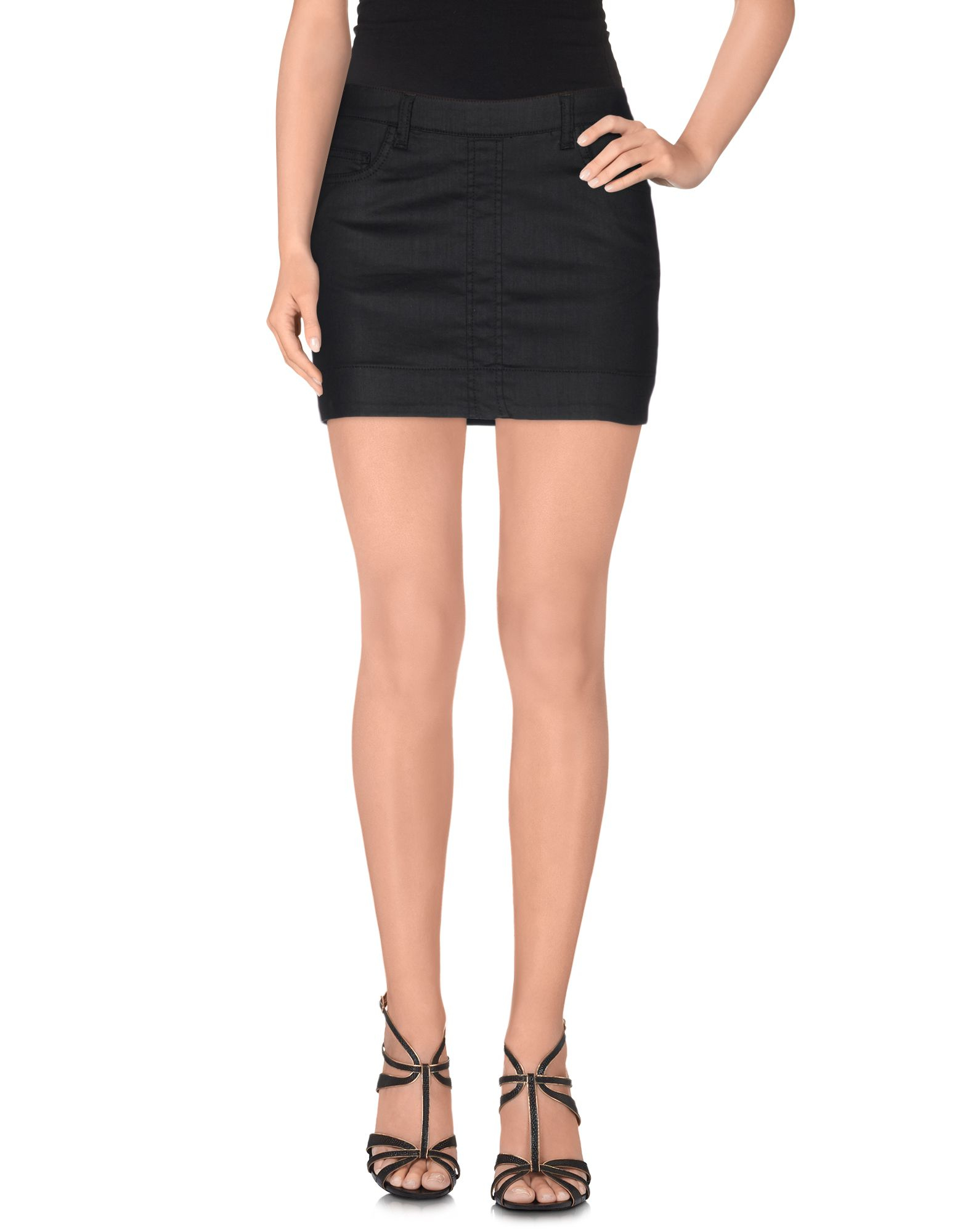 set denim skirt in black lyst