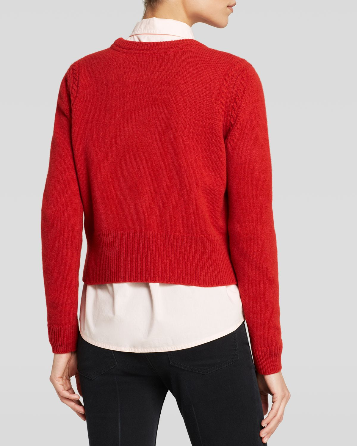 marc by marc jacobs sweater iris wool in red lyst. Black Bedroom Furniture Sets. Home Design Ideas