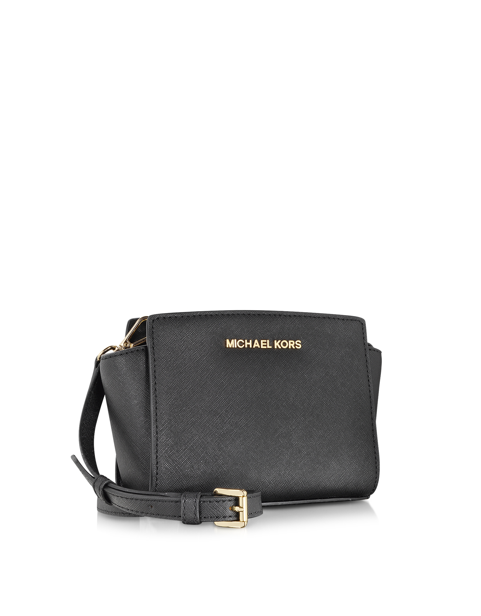 michael kors selma mini messenger bag in black lyst. Black Bedroom Furniture Sets. Home Design Ideas