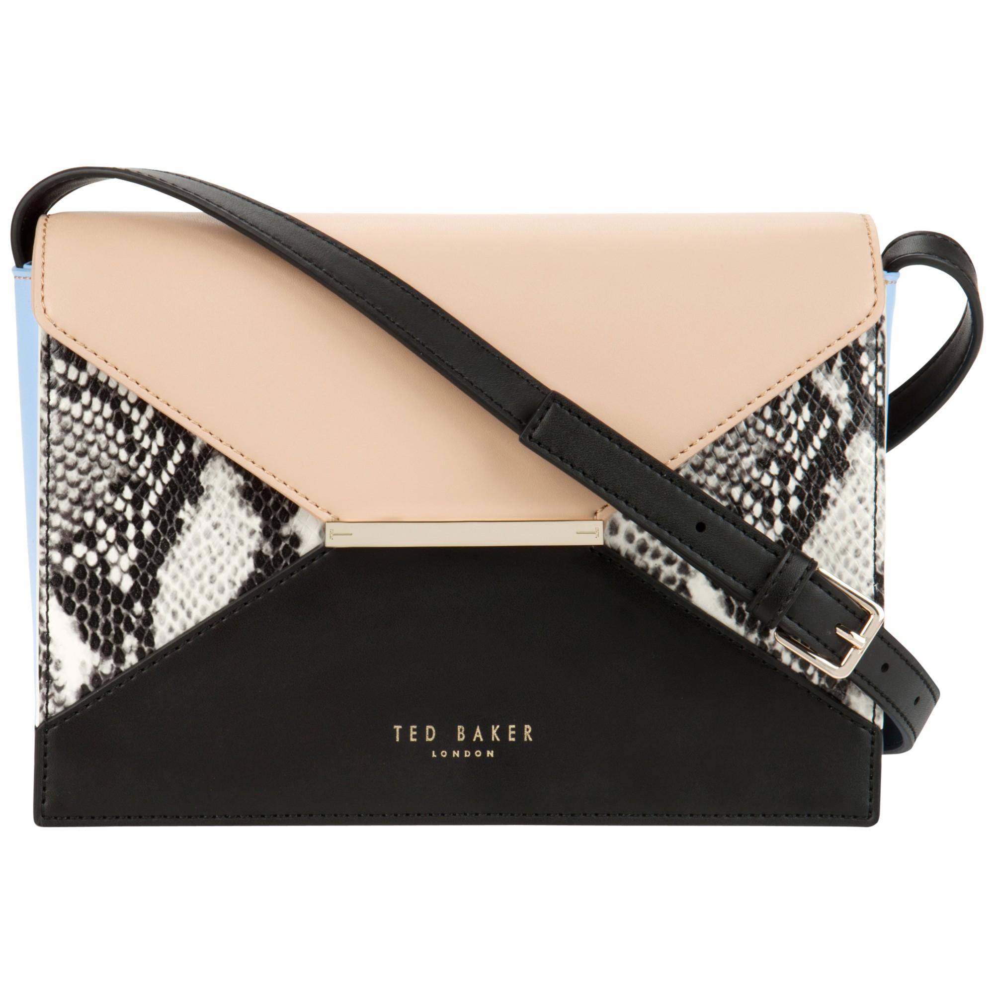 Ted Baker Tuileyy Colour Block Shoulder Bag in Beige (powder)