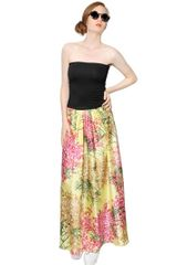 Antonio Marras Cotton and Silk Twill Skirt Long Dress - Lyst