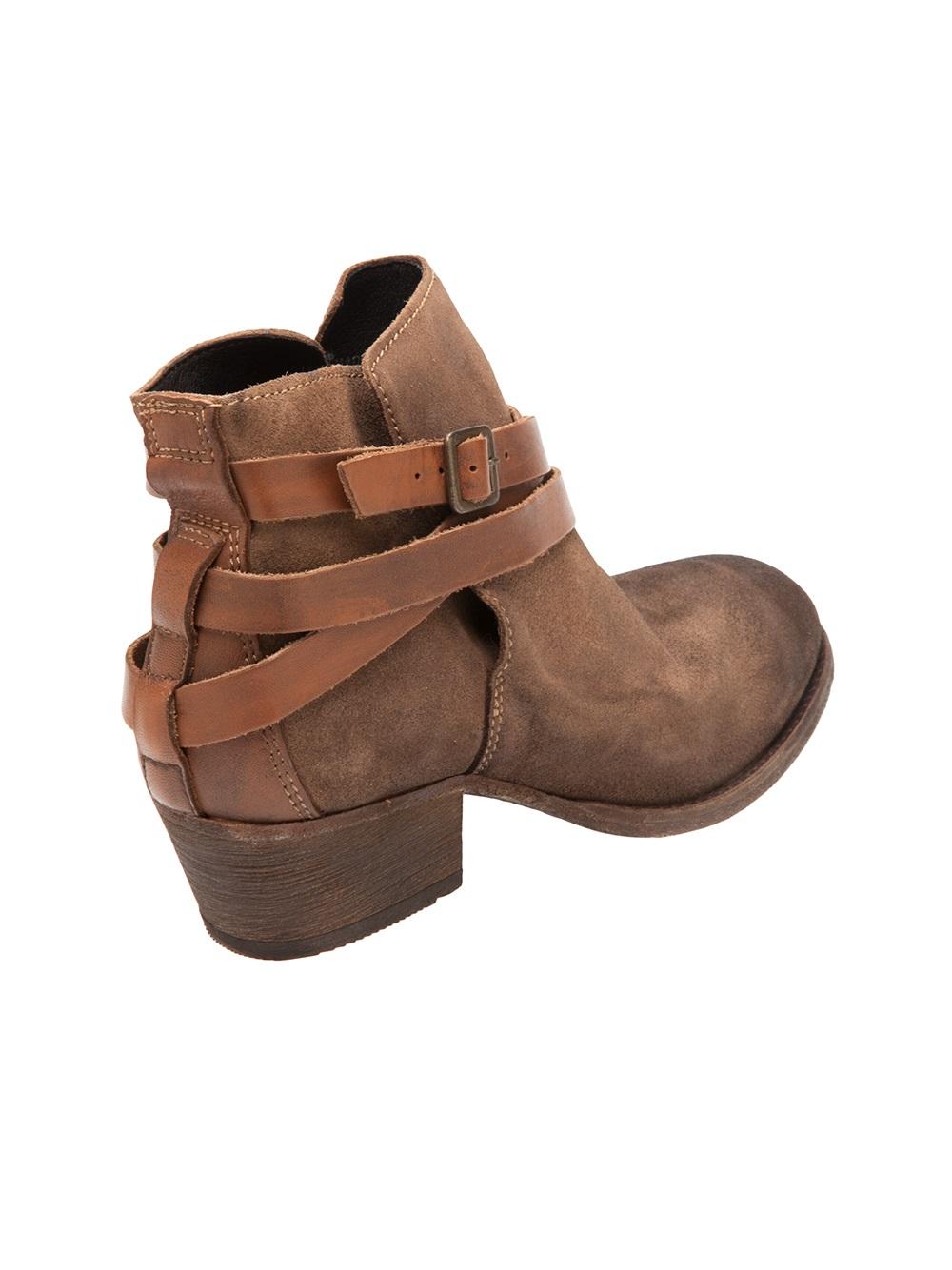 Reiss Brown Chunky Heel Shoes