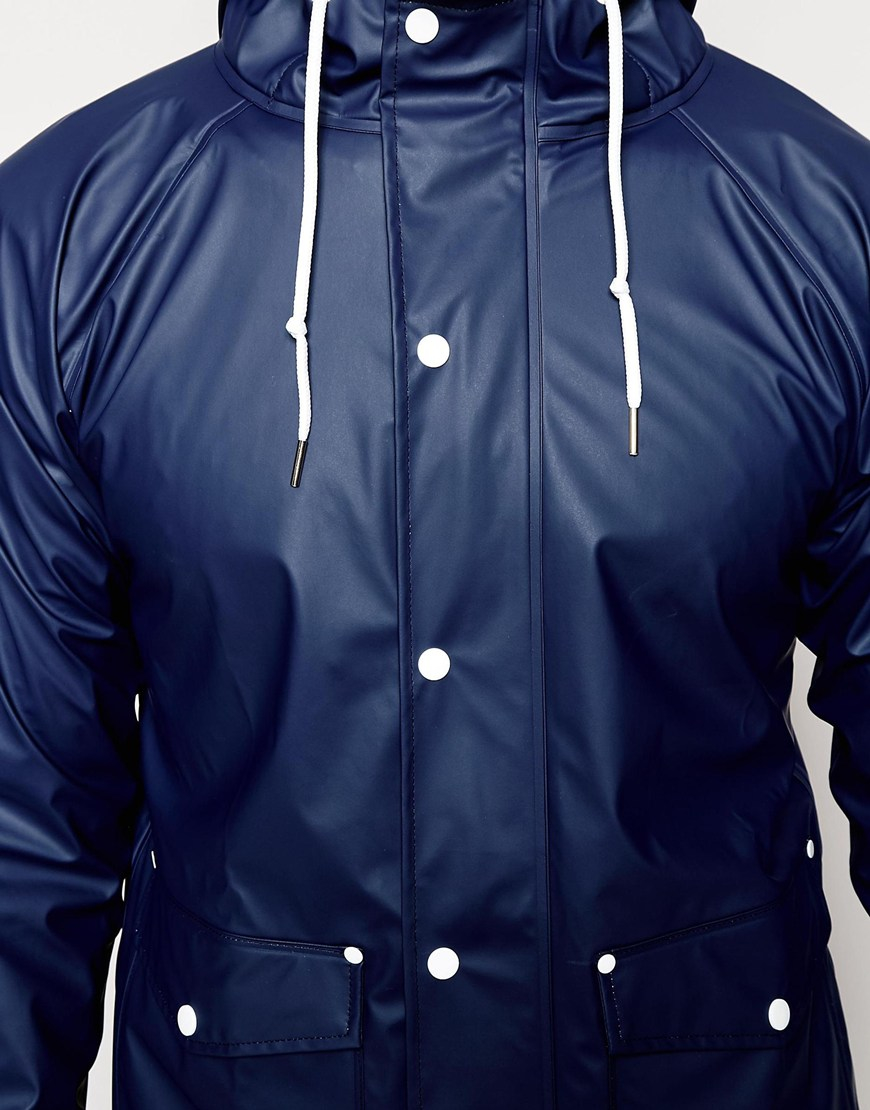 Lyst - Another influence Waterproof Hooded Rain Jacket in Blue for Men
