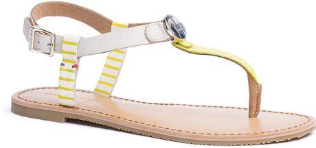 tommy hilfiger julia sandal in beige peyote lemon tonic. Black Bedroom Furniture Sets. Home Design Ideas
