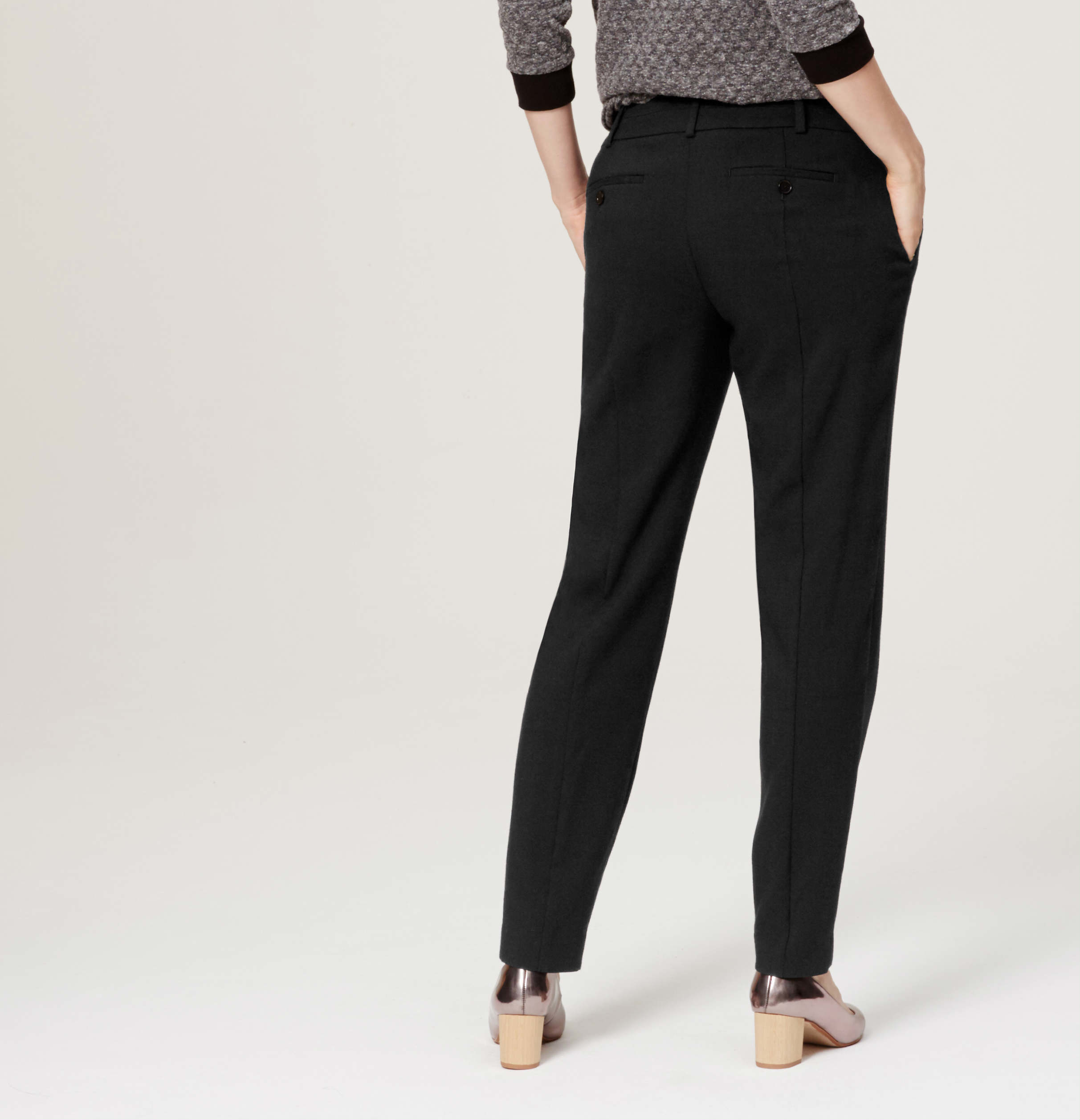 Loft Textured Pencil Pants In Julie Fit In Black Lyst