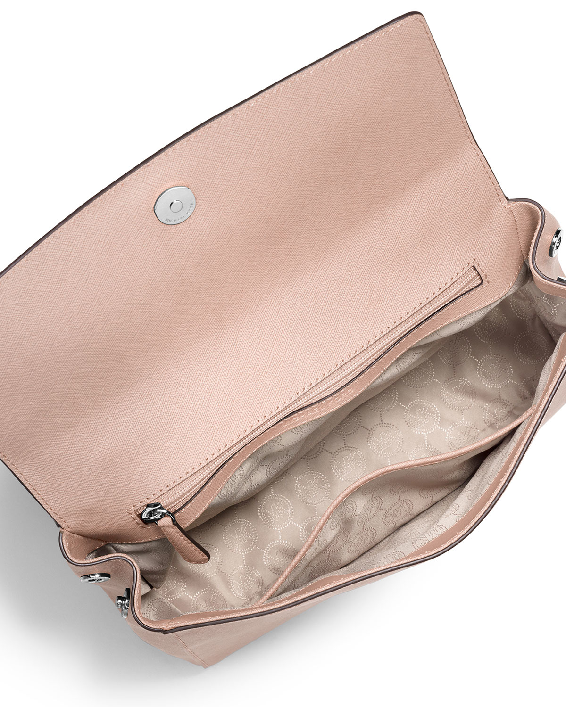 cb8fdc8f2d2 ... reduced lyst michael michael kors ava medium saffiano leather satchel  bag 8f523 62f8f spain michael kors ava medium leather satchel soft pink ...
