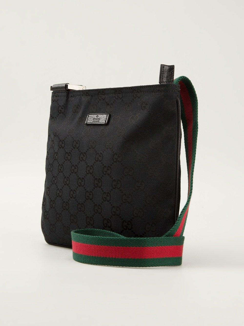 Lyst Gucci Monogram Crossbody Bag In Black For Men