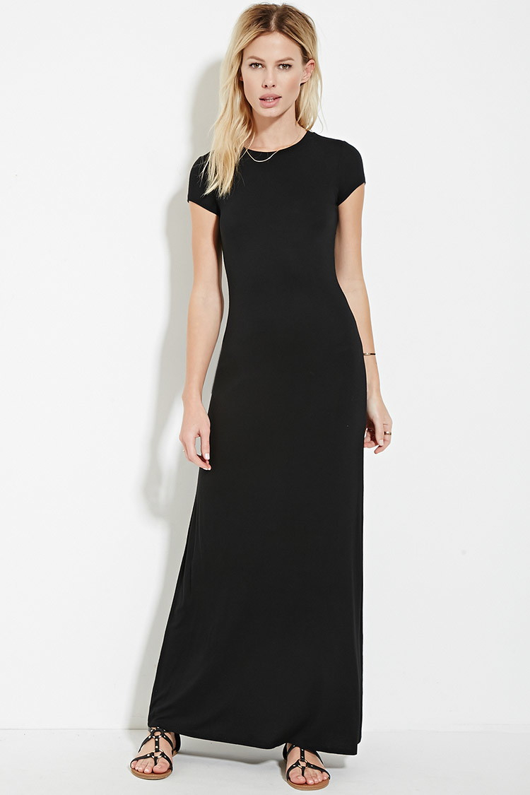 Lyst Forever 21 T Shirt Maxi Dress In Black