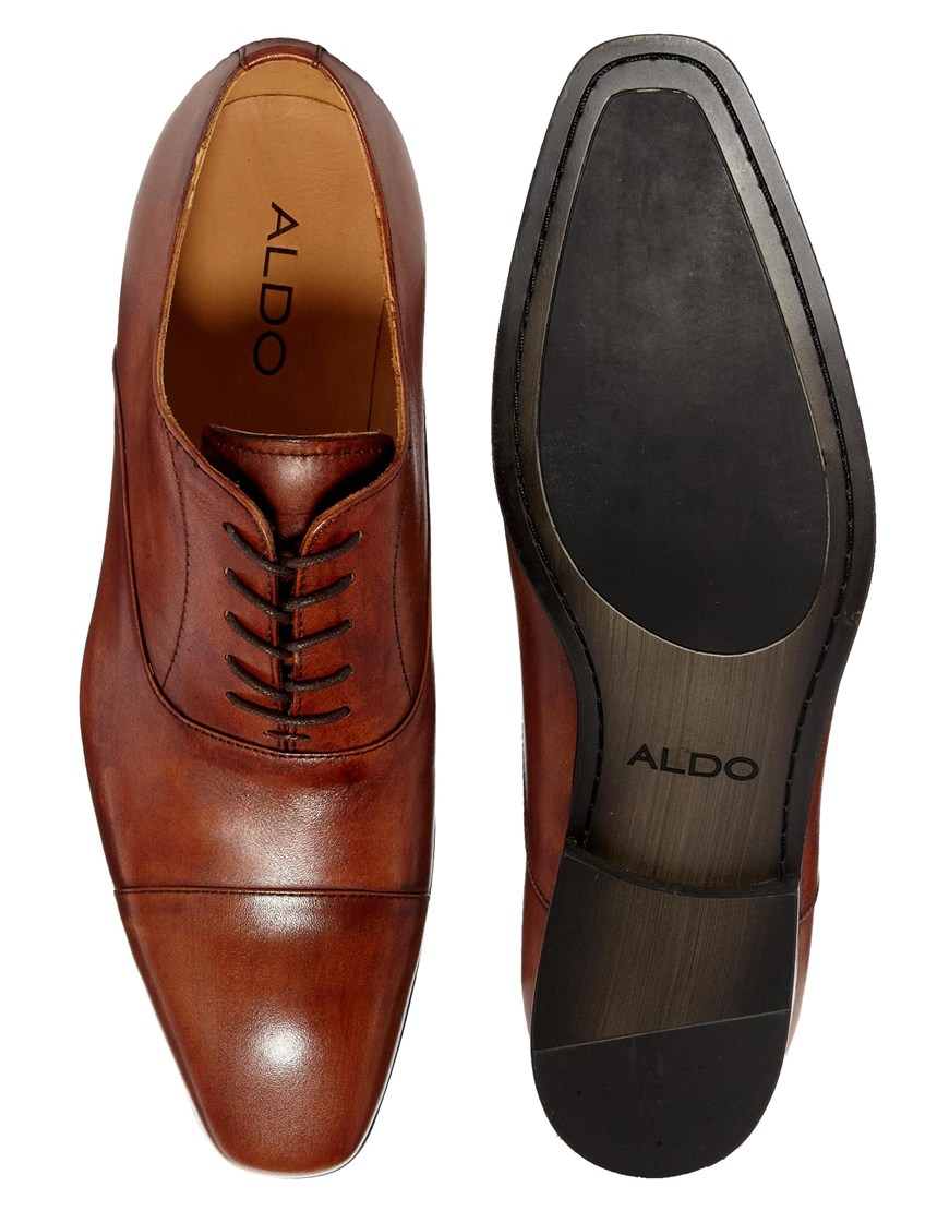 Aldo Mesnier Leather Oxford Shoes In Brown For Men Lyst