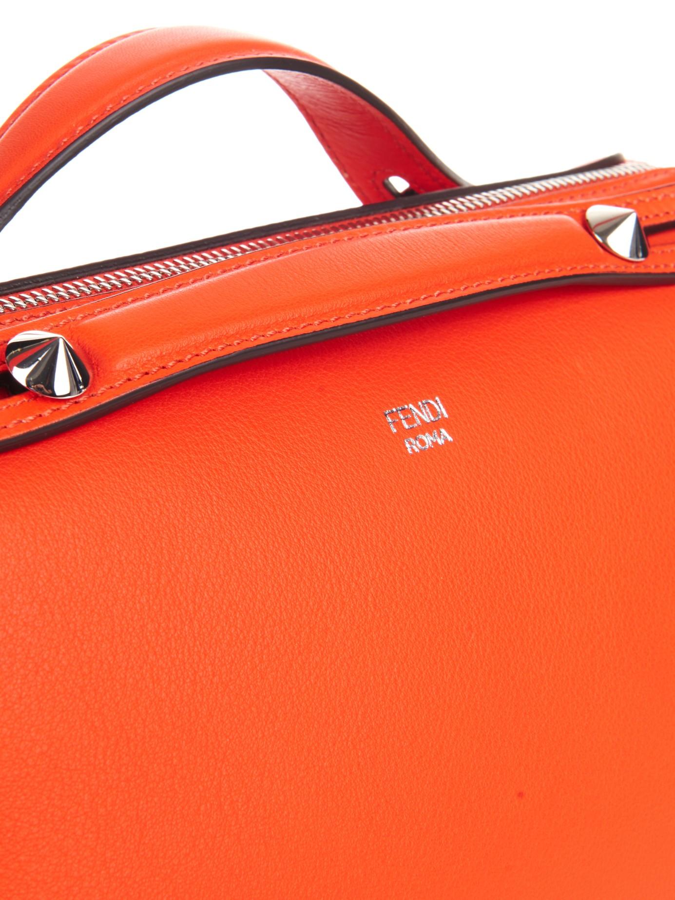 af19b07cf03e ... reduced fendi by the way leather cross body bag in orange lyst 526b4  239a1