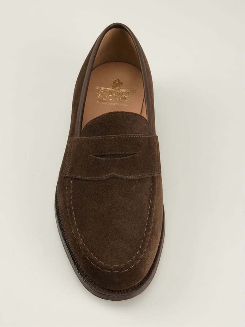 ab4ba41bf48 Lyst - Crockett and Jones  sydney  Penny Loafers in Brown for Men