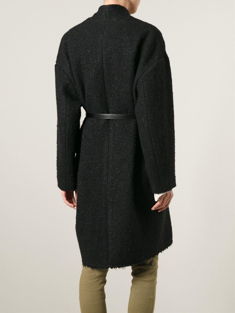 Lyst Isabel Marant Seal Coat In Black