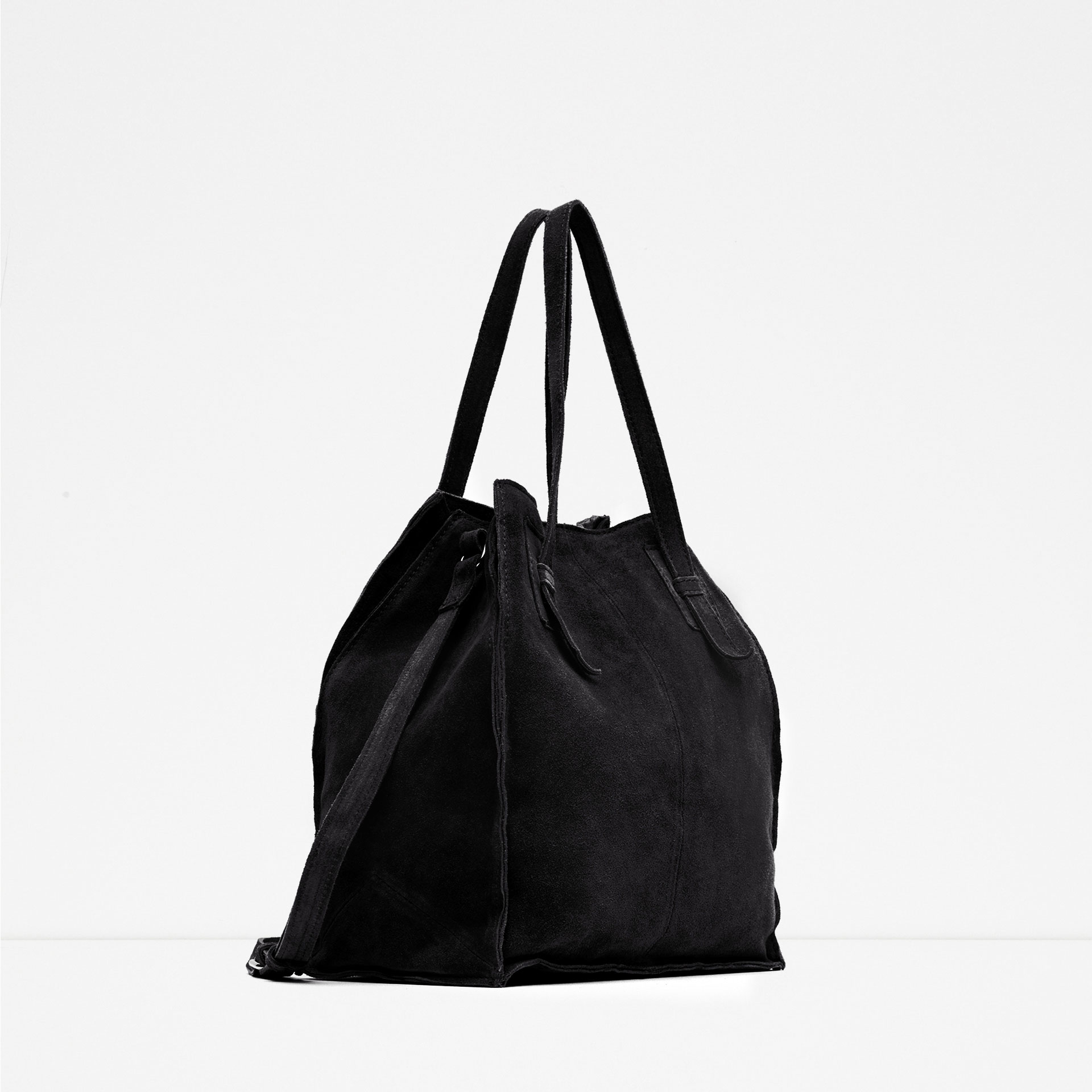 Black Suede Handbag | Luggage And Suitcases