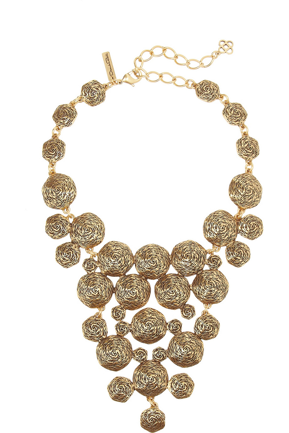 Oscar de la renta Swirl Gold-Plated Necklace in Metallic | Lyst