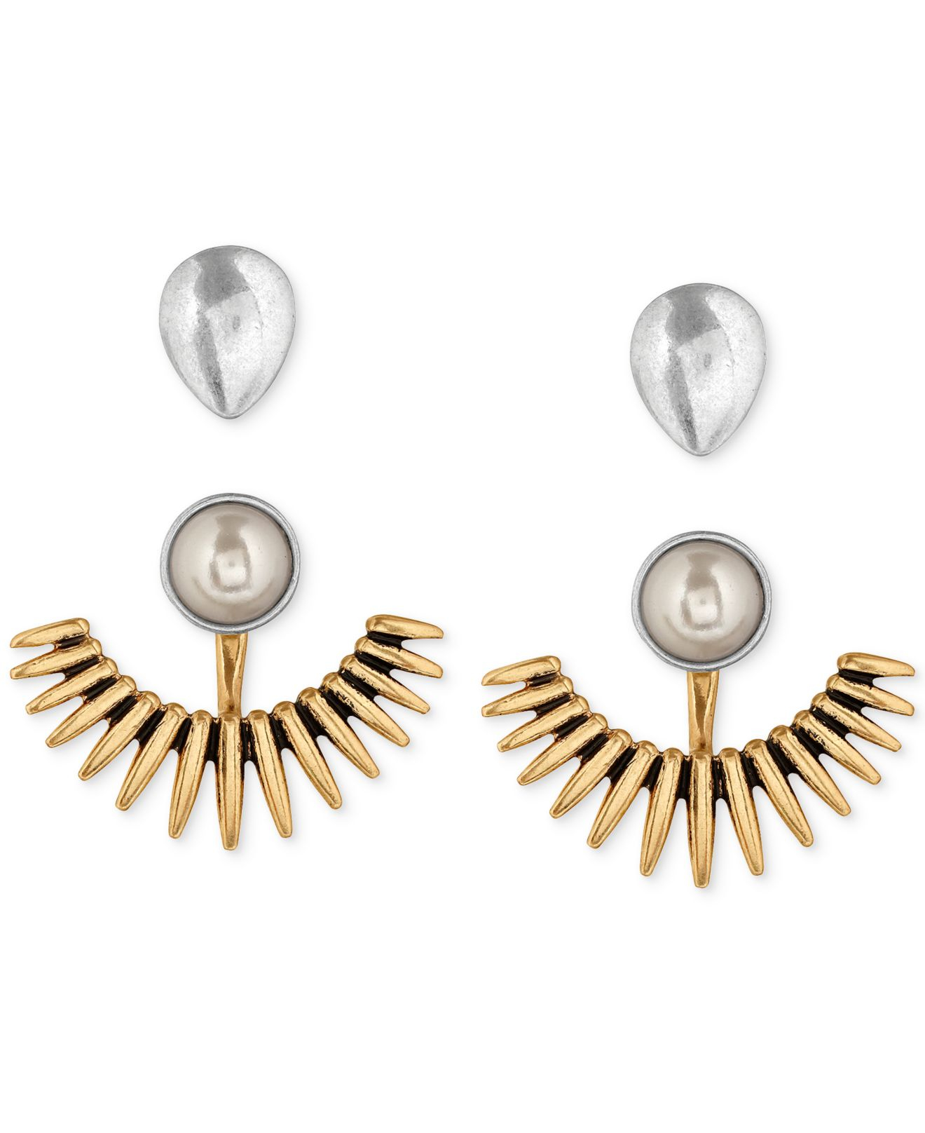 Earring Jacket Gold Silver Crystal Ear Jackets Earrings