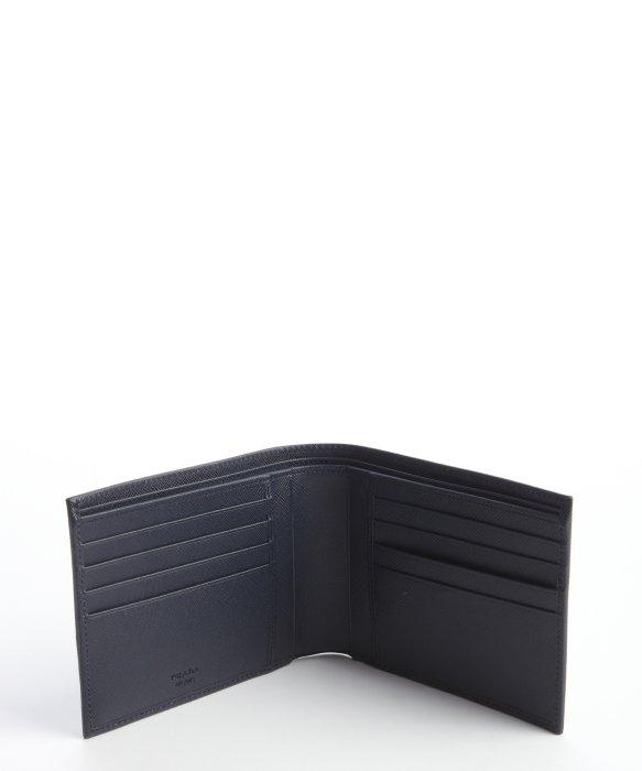 Prada Baltic Blue Saffiano Leather Bifold Wallet in Blue for Men ...