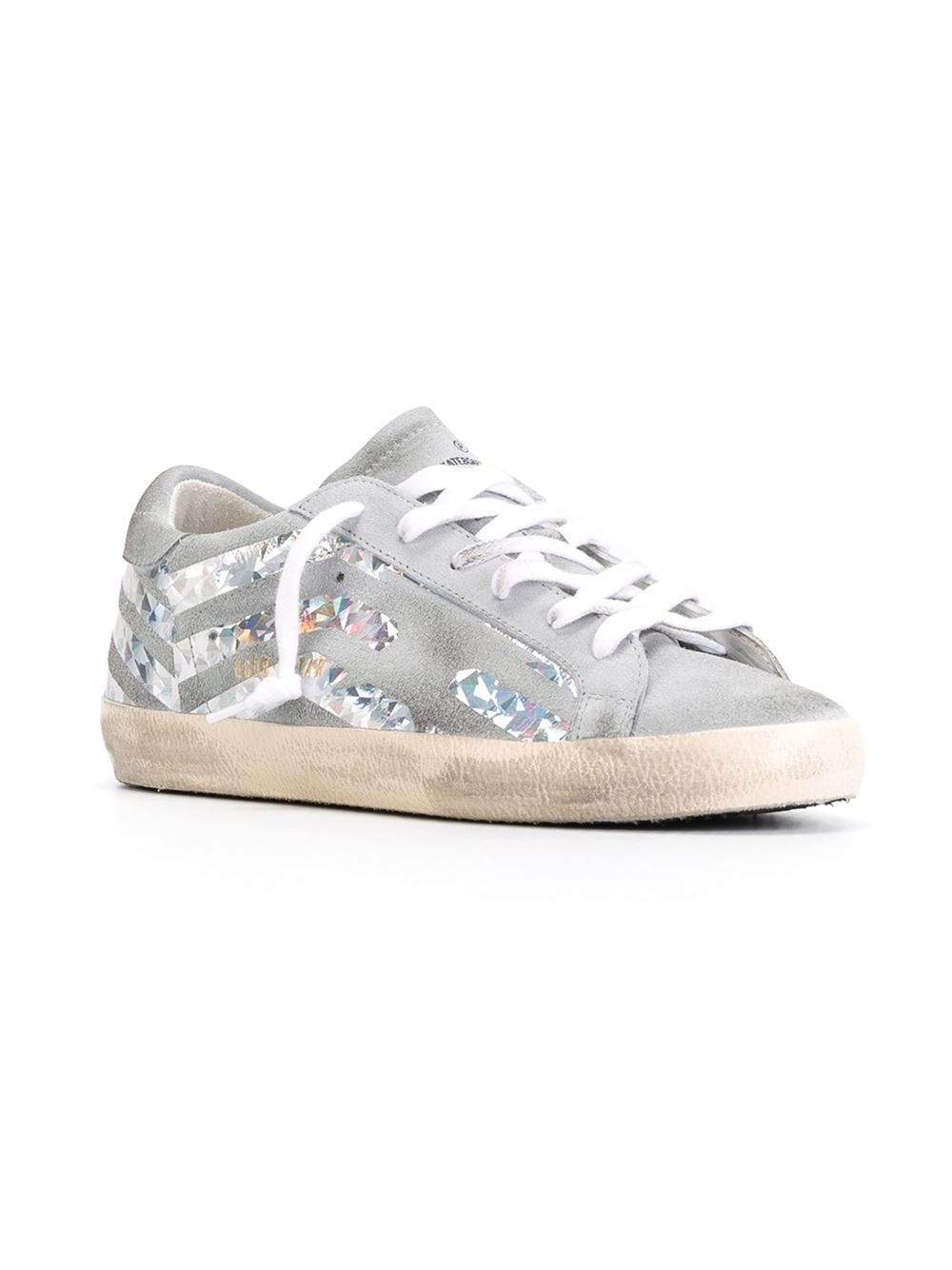 golden goose deluxe brand 39 super star 39 sneakers in gray grey lyst. Black Bedroom Furniture Sets. Home Design Ideas