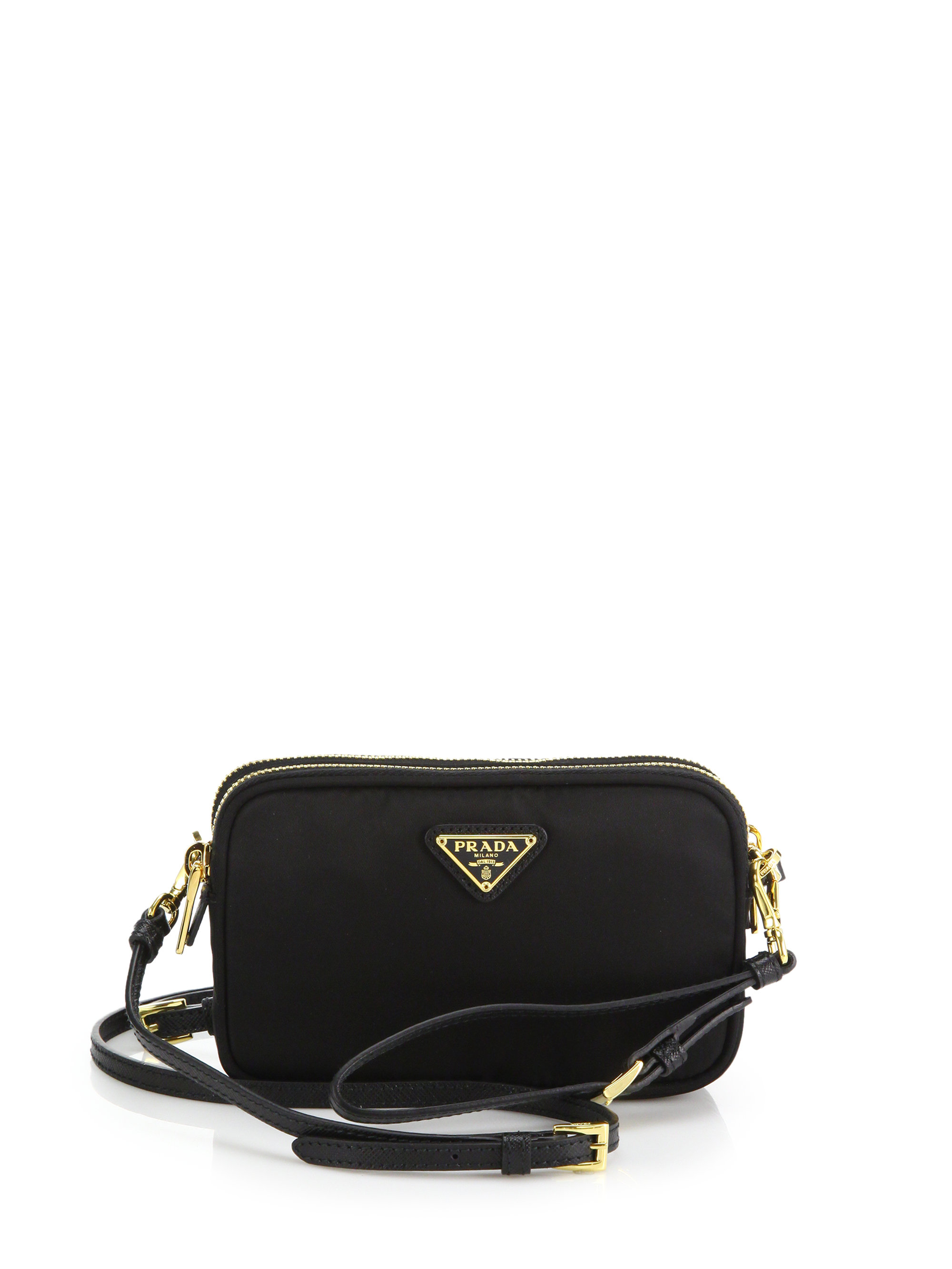 Prada Nylon Camera Bag in Black | Lyst