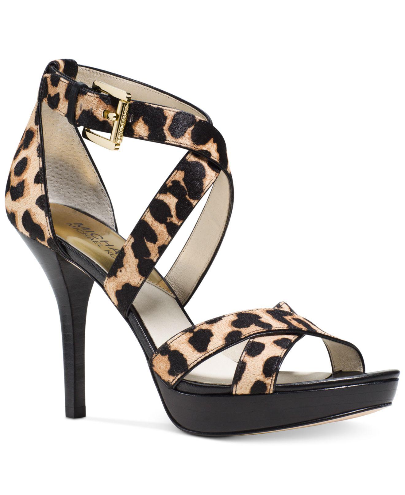 6fd22143f934 Lyst - Michael Kors Michael Evie Platform Sandals