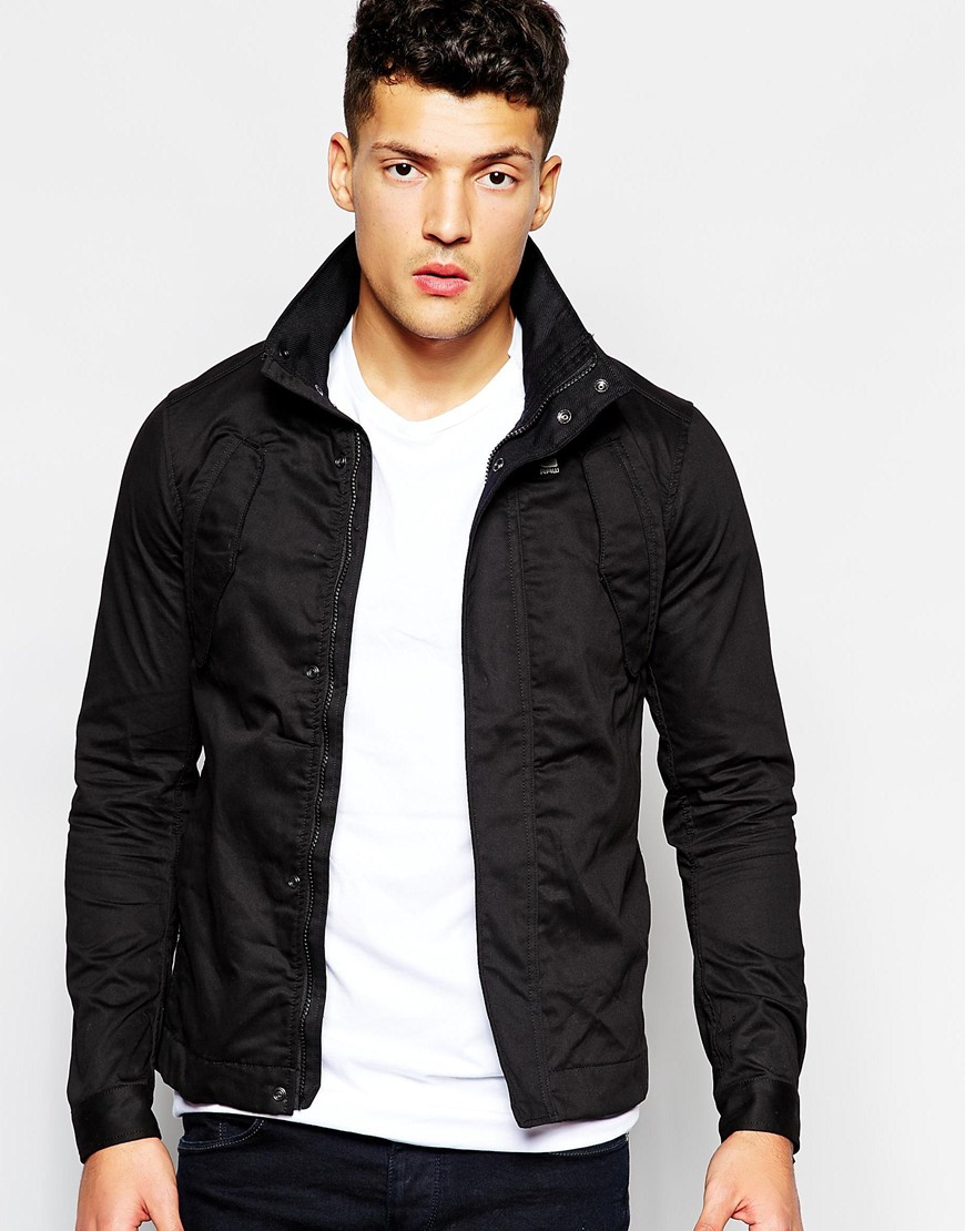 g star raw overshirt jacket peltz in black for men lyst. Black Bedroom Furniture Sets. Home Design Ideas