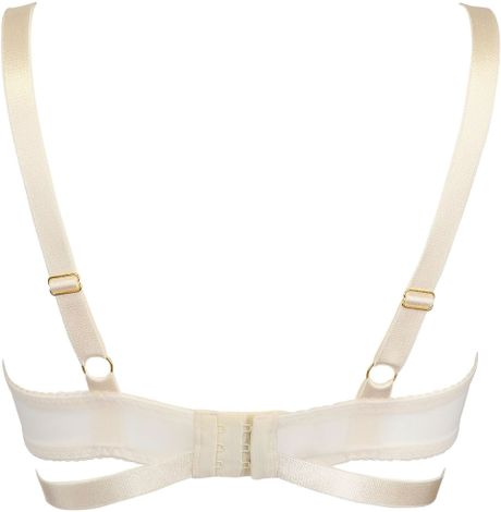 Bordelle Techno Mesh Open Bra in White (off white)