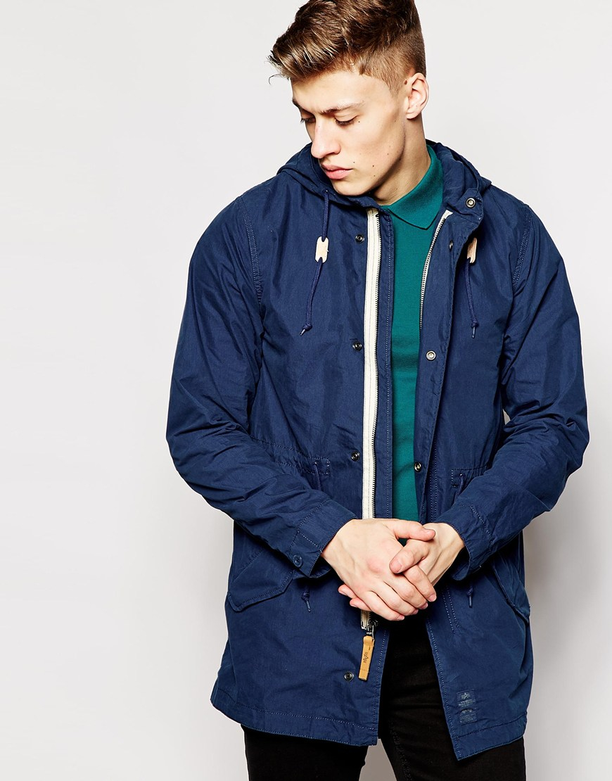 Alpha industries Parka With Fishtail in Blue for Men | Lyst