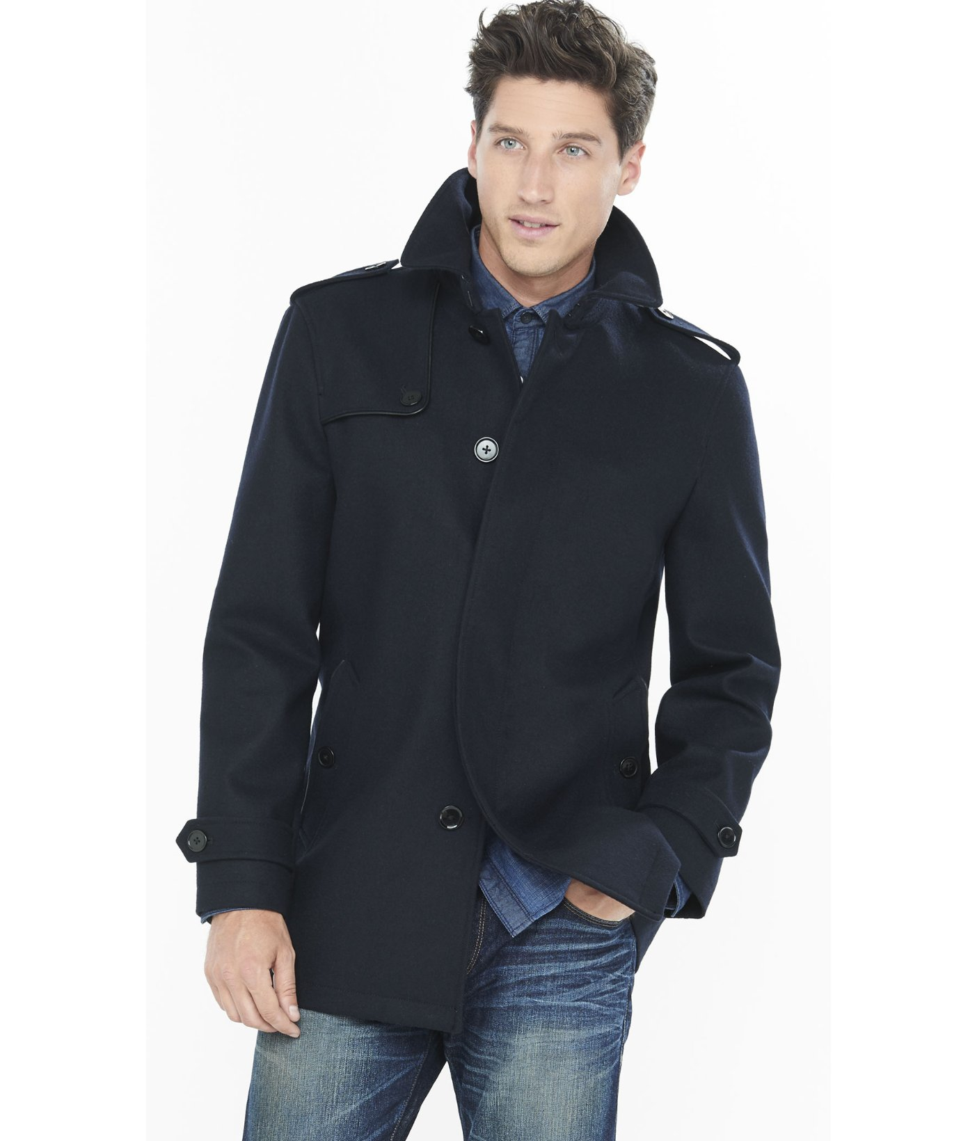 8fecb6a4b535 Navy Blue Wool Coat Mens - Best Picture Of Blue Imageve.Org