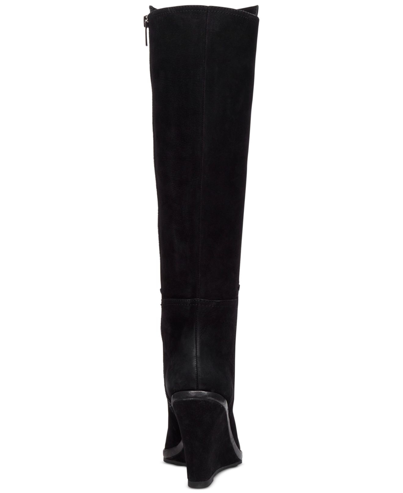 Vince camuto Justine Wedge Boots in Black   Lyst