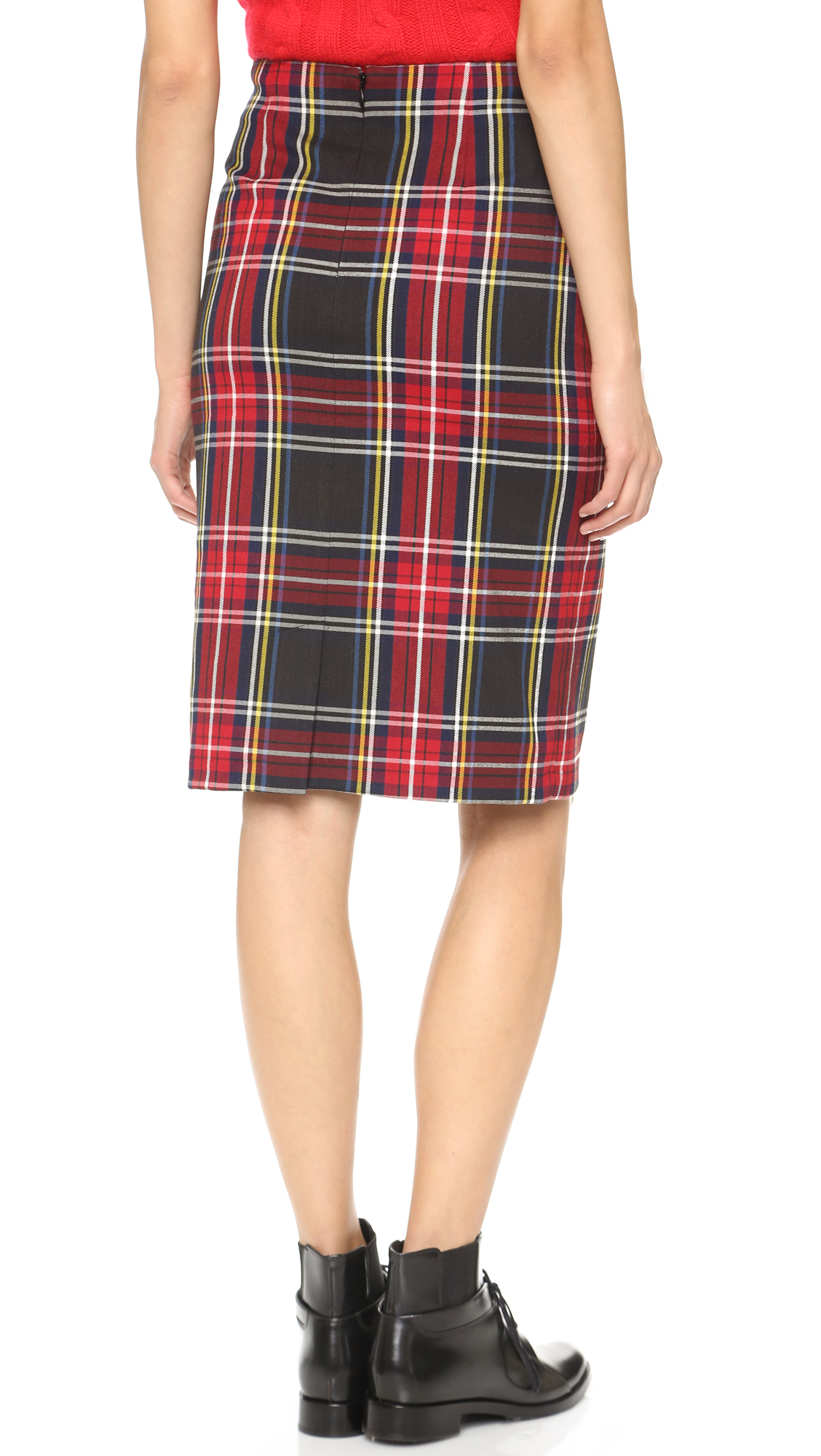 Lyst Bb Dakota Lyla Tartan Plaid Pencil Skirt In Green