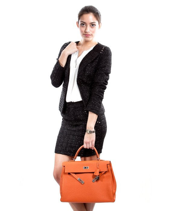 Herm��s Preowned Orange Togo Kelly 35 Cm Bag in Orange | Lyst