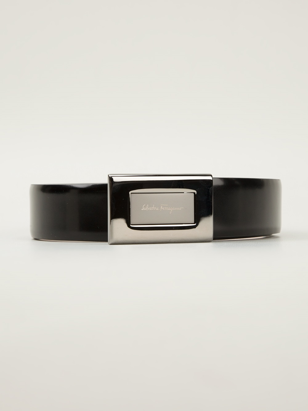5054a0c6b3774 ... purchase lyst ferragamo square plaque belt in black for men 784f8 68b65  ...