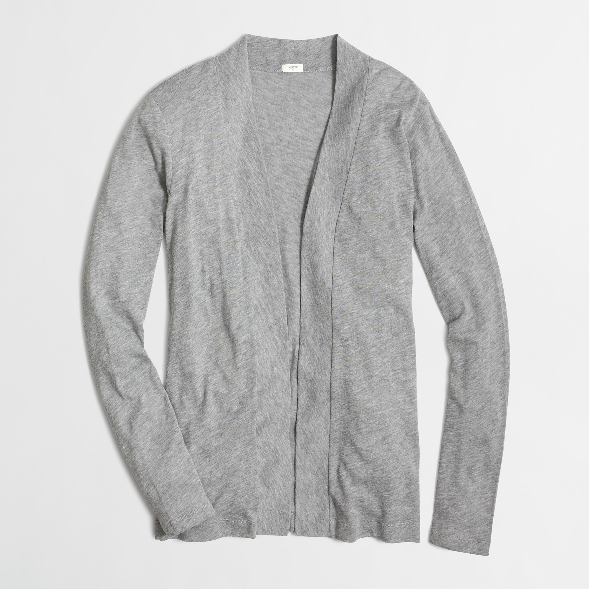 f8e930175d Lyst - J.Crew Factory Always Cardigan Sweater in Gray