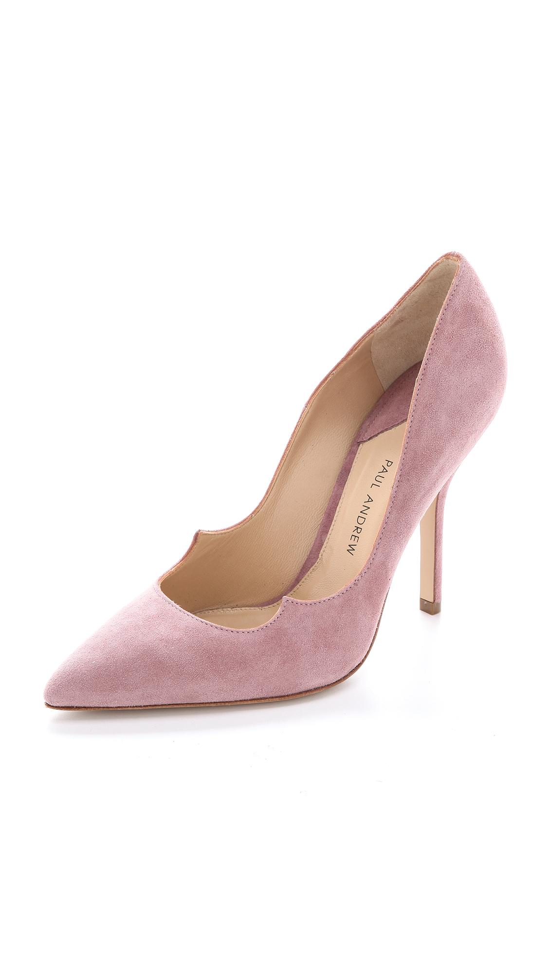 Lyst Paul Andrew Zenadia Pumps Dusty Rose In Pink