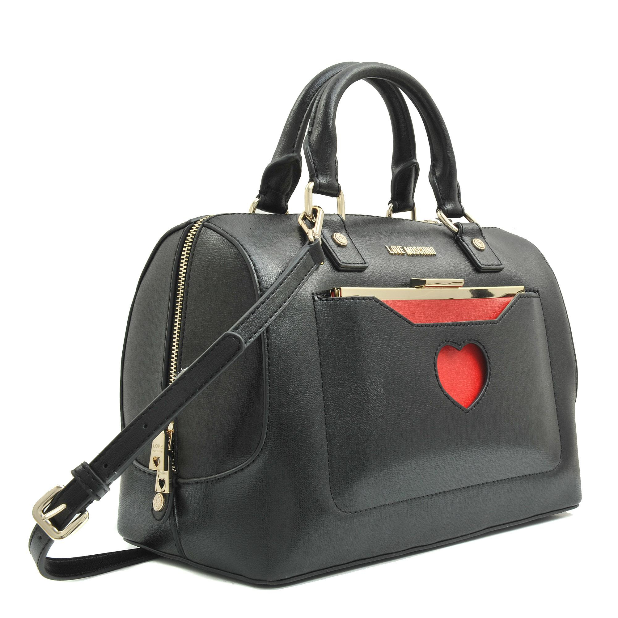 love moschino peace love bowling bag in red lyst. Black Bedroom Furniture Sets. Home Design Ideas