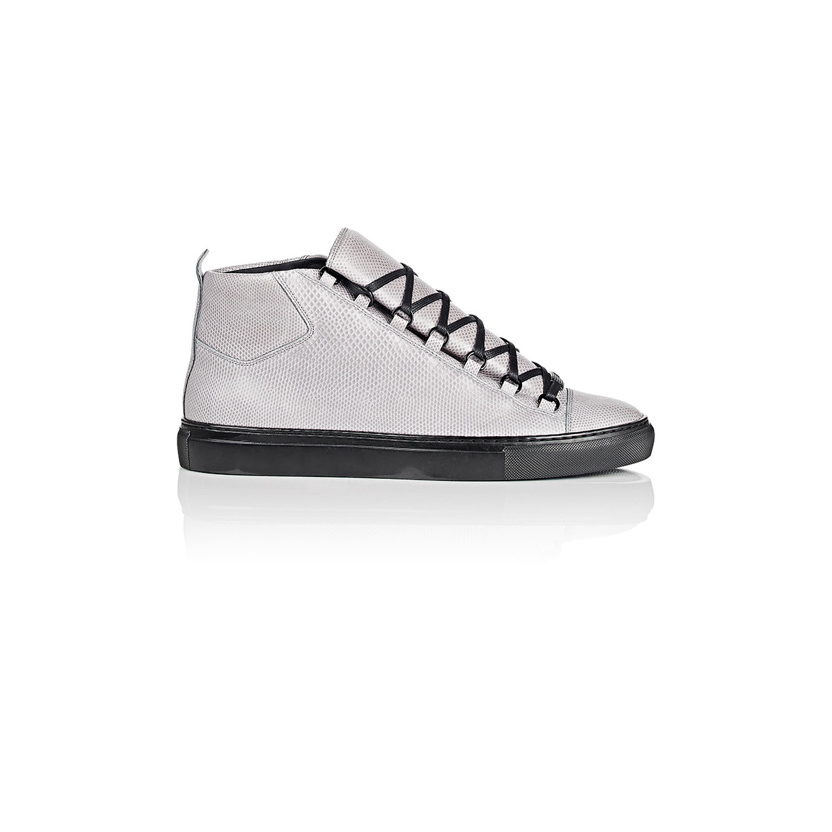 02d31f03ca322 Lyst - Balenciaga Snakeskin Arena High-top Sneakers in Gray for Men