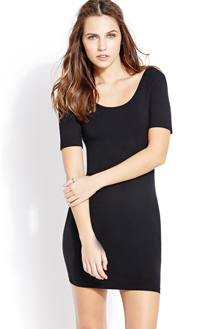 Forever 21 No-Fuss Bodycon Dress in Black | Lyst